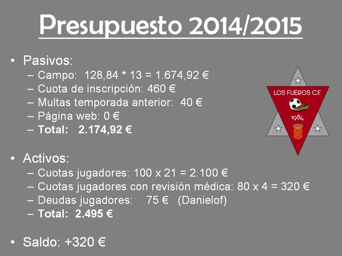 Presupuesto 2014-2015